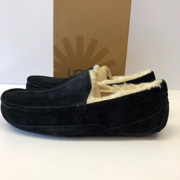 b1dfadedc1e Men's UGG Ascot UGGpure(TM) Lined Slipper Black 11 NWT